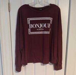 Fashion Nova Tops - *Get it for $2* Fashion Nova Bonjour Paris Top